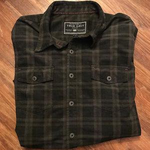 True Grit Long Sleeve Button Shirt sz XL ~ A345
